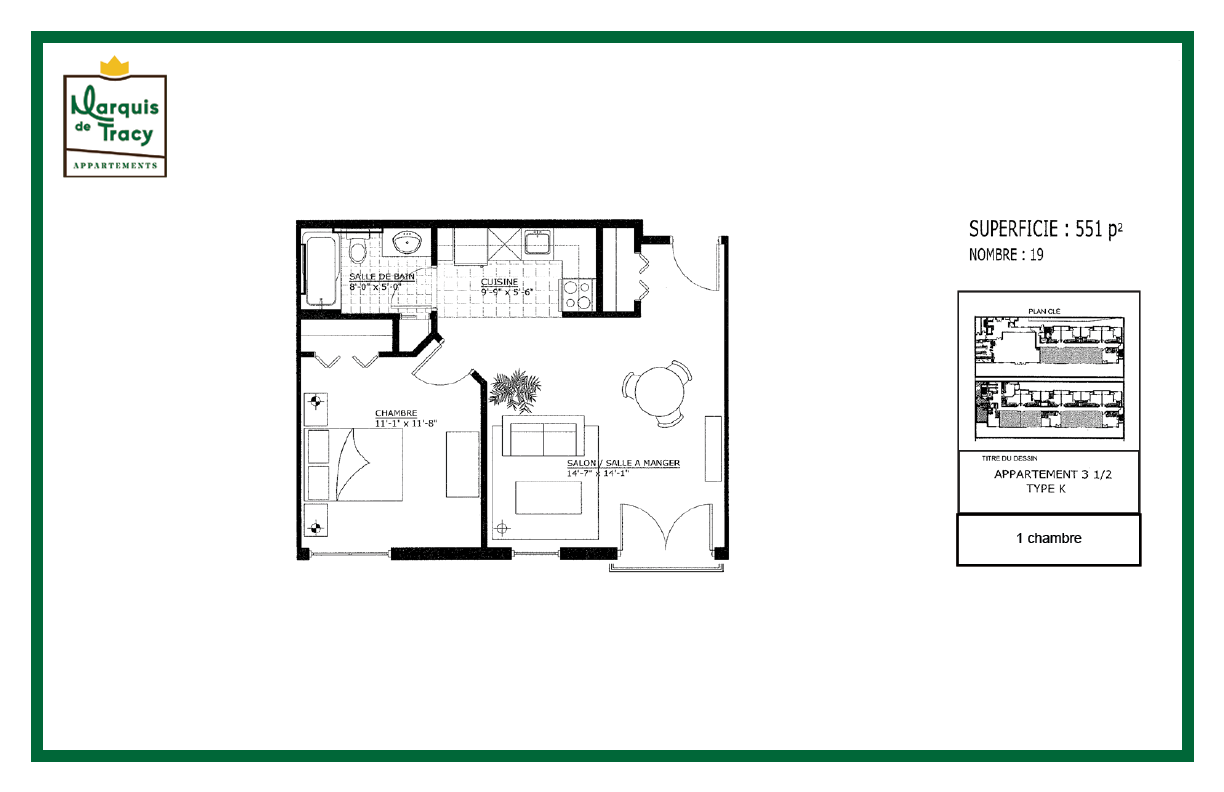 plan appartement 1 etage